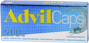 Advilcaps 200 mg, capsule molle